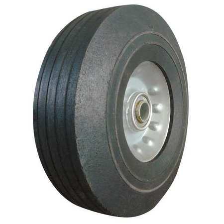 Solid Rubber Wheel, 8 in., 400 lb., Sym