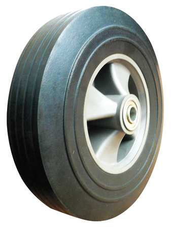 Solid Rubber Wheel, 10 in., 450 lb., Offset