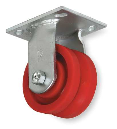 V-Groove Rigid Caster, Polye, 5 in., 400 lb