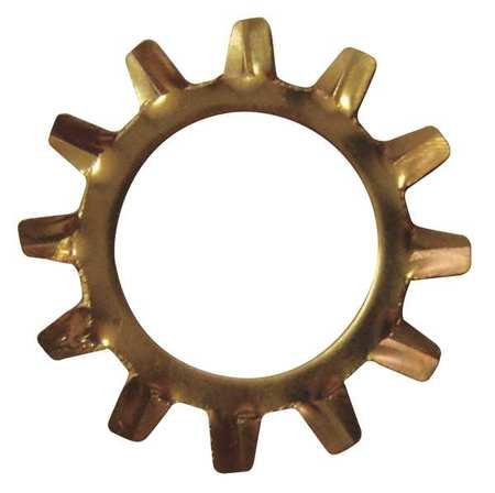 "5/16"" x 0.610"" OD Phosphorus Bronze Plain Finish External Tooth Lock Washers,  50 pk."