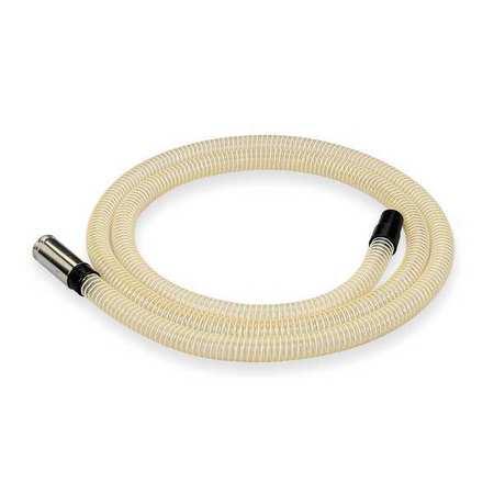 Vacuum Hose, 1-1/2 x 15 ft, Clear, Urethane