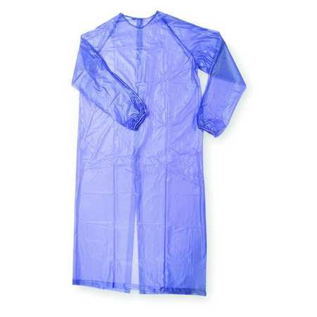Coat Sleeve Apron, Blue, 55 In. L