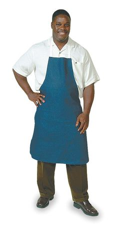 Bib Apron, Navy Blue, 36 In. L