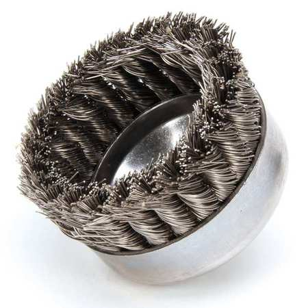 Knot Wire Cup Wire Brush,  Arbor,  0.023""