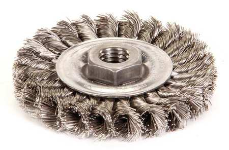 Knot Wire Wheel Wire Brush,  Threaded Arbor