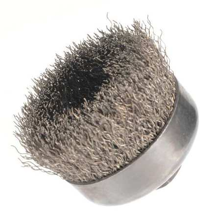 "Crimped Wire Cup Wire Brush,  4"",  0.020 """