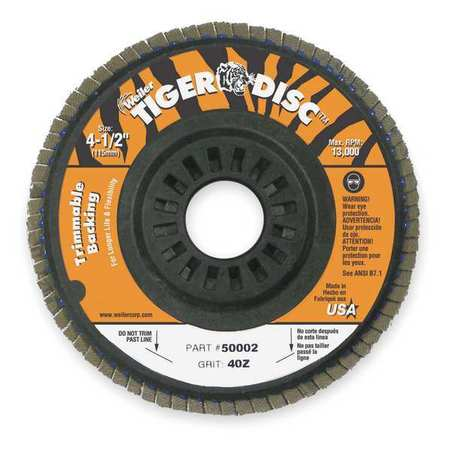 Arbor Mount Flap Disc, 5in, 40, Coarse