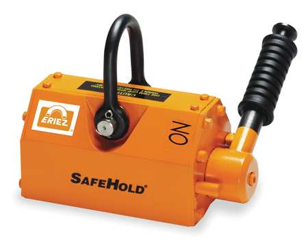 SafeHold(R) Lifting Magnet, 1100 lb Cap, 7-3/4 In OAL