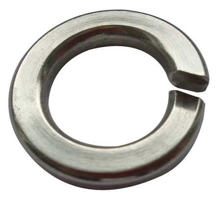 "9/16"" x 0.965"" OD 18-8 Stainless Steel Plain Finish Standard Split Lock Washers,  25 pk."