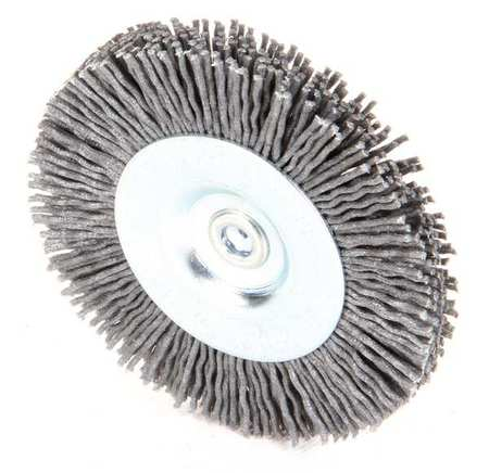 "Wire Wheel Wire Brush,  3"",  1/4"",  4,  500 RPM"
