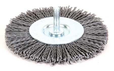 "Wire Wheel Wire Brush,  4"",  1/4"",  4,  500 RPM"
