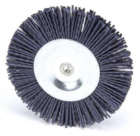 """Wire Wheel Wire Brush,  4"""",  1/4"""",  4,  500 RPM"""