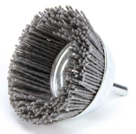"Cup Wire Brush,  3"",  1/4"",  4,  500 RPM"