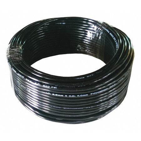 Tubing, 2.5mm ID x 4mm OD, 100 Ft, Black