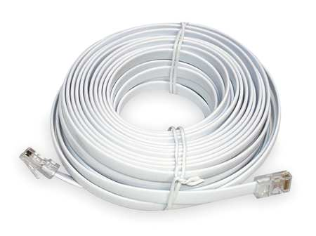 50 ft. Clock Cable,  White