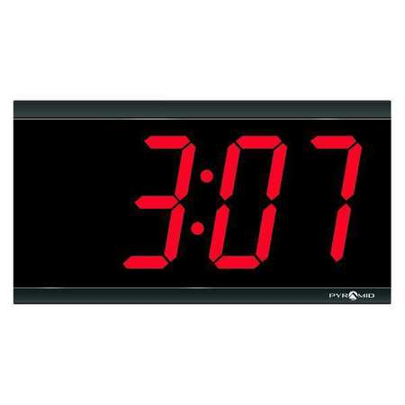 "11-7/16"" Digital Master Wall Clock,  Black"