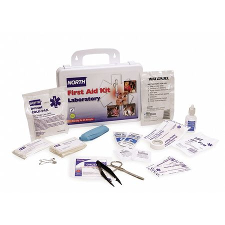 First Aid Kit, Unitized, White, 25 People