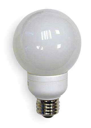 GE LIGHTING 11W,  G25 Screw-In Fluorescent Light Bulb