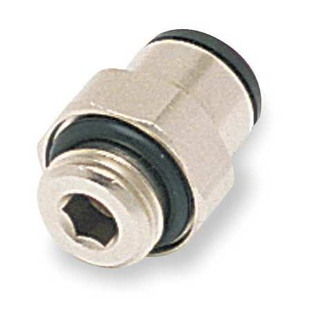 "1/8"" Male BSPP x 4mm Tube Nickel Brass Connector 10PK"