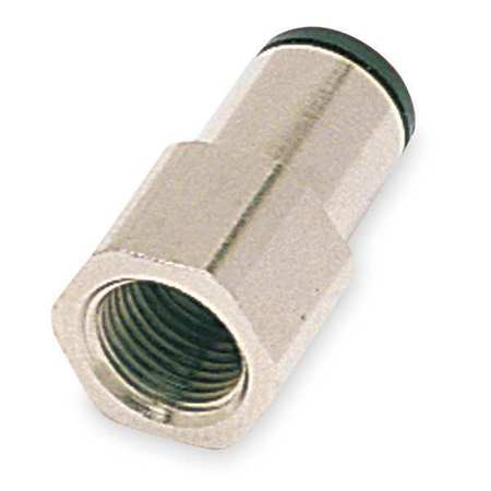 "1/4"" Tube x FNPT Nickel Brass Adapter 10PK"