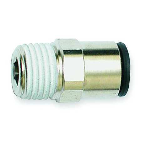 "1/2"" Tube x 3/8"" MNPT Nickel Brass Connector 10PK"