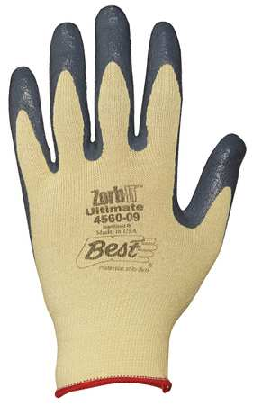 Nitrile-Palm Coated Cut- and Abrasion-Resistant Gloves,  Zorb-IT Ultimate,  Hi-Viz,  and Ultra