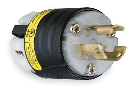 15A Ground Monitoring Plug 2P 3W 277VAC L7-15P BK/WT