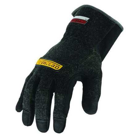 Heat Resist Gloves, Black,  2XL, Kevlar, PR