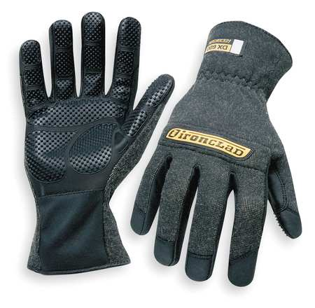 Heat Resist Gloves, Black,  S, Kevlar, PR