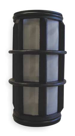 "Filter Screen, Black, 5"" Length, 2"" Dia"