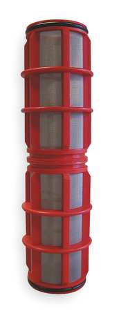 "Filter Screen, Red, 10"" Length, 2"" Dia"