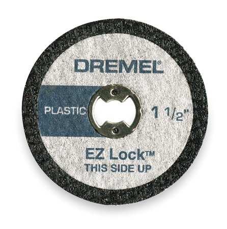 E Z Lock Cut Off Wheel, 1 1/2 In Dia, PK5