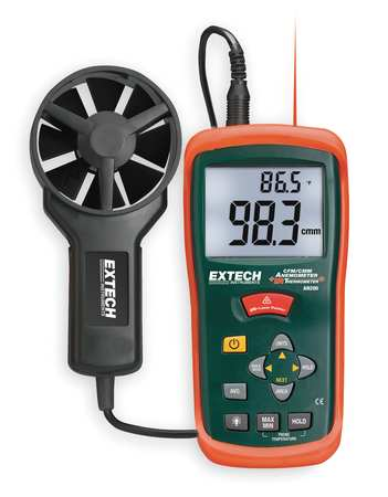 Anemometer with IR Temp, 80 to 5900 fpm