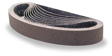 Sanding Belt, 1-1/8Wx21 In L, AO, 100G, PK10