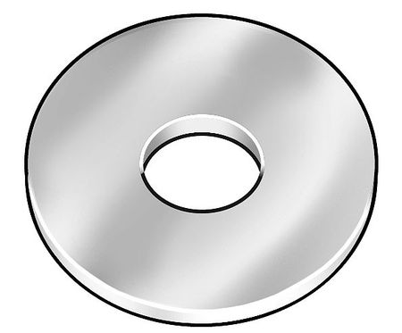 Rivet Washer, Alum, Rnd, 1/8 x3/8 In, PK500