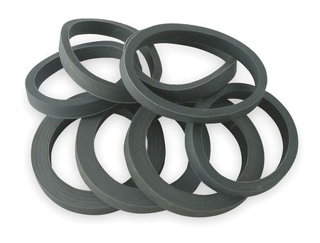 Rubber Washer Assortment, Rubber, Gray, PK8
