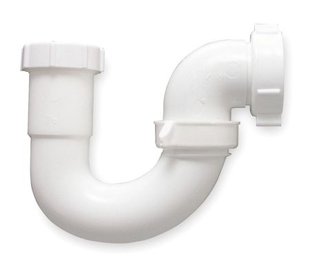 J Bend w/Elbow, Plastic, Pipe 1 1/2 In