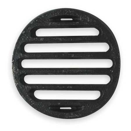 Shower Drain Grid, Pipe Dia 4 In, CI