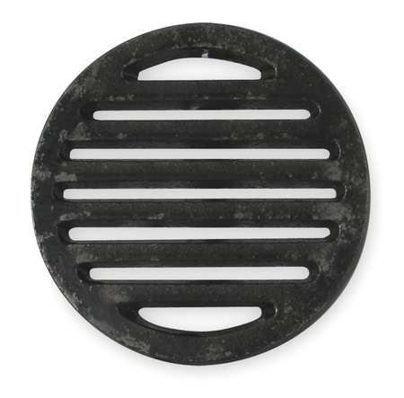 Shower Drain Grid, Pipe Dia 5 In, CI