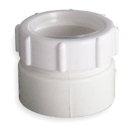 Trap Adapter, PVC, 1 1/2 In Pipe Dia