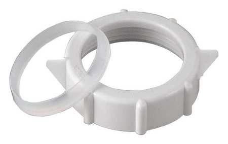 Slip Nut, Plastic, Pipe Dia 1 1/2 In, PK10