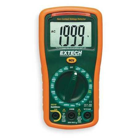 Mini Digital Multimeter, 600V, 2000 KOhms