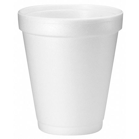 White Disposable Cold/Hot Cup 8 oz.,  Pk1000