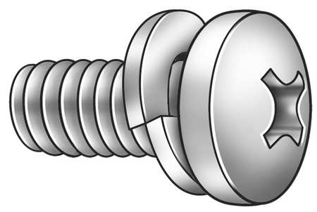 "#10-32 x 1/2"" Pan Head Phillips Machine Screw,  100 pk."