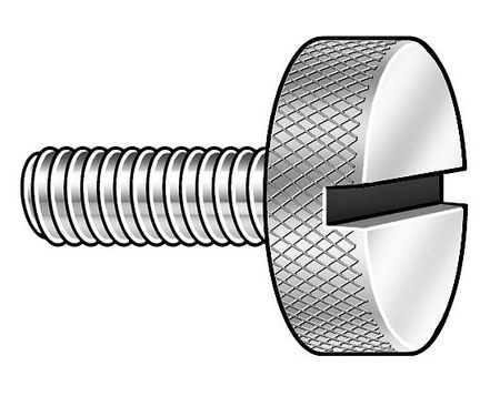 Thumb Screw, Knurled, 4-40x1/2 L, Pk5