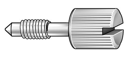 Panel Screw, Knurl, 1/4-20x3/4 L, Pk5