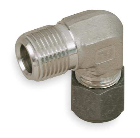 "1/4"" x 3/8"" CPI x MNPT SS Male 90 Degree Elbow"