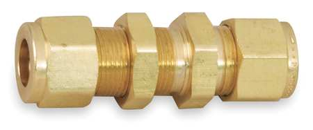 "3/8"" CPI Brass Bulkhead Union"