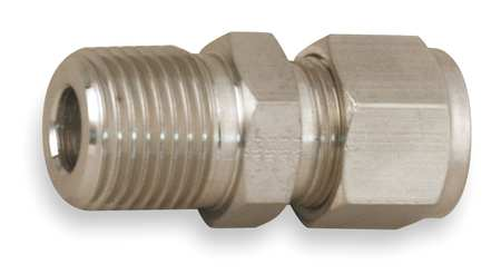 "1/2"" A-LOK x MNPT SS Male Connector"