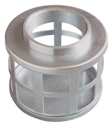 SuctionStrainer, 7 Dia, 4 NPT, Side Sq Perf